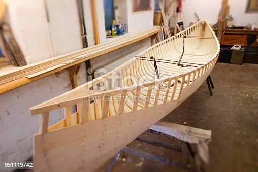 making a wooden canoe