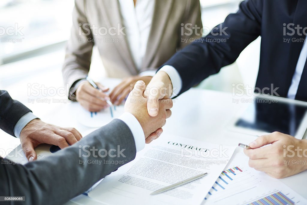 Making agreement stock photo