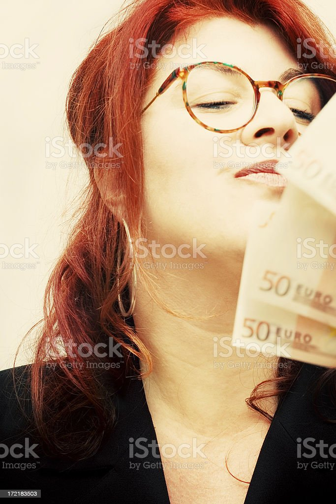 Making air with money royalty-free stock photo