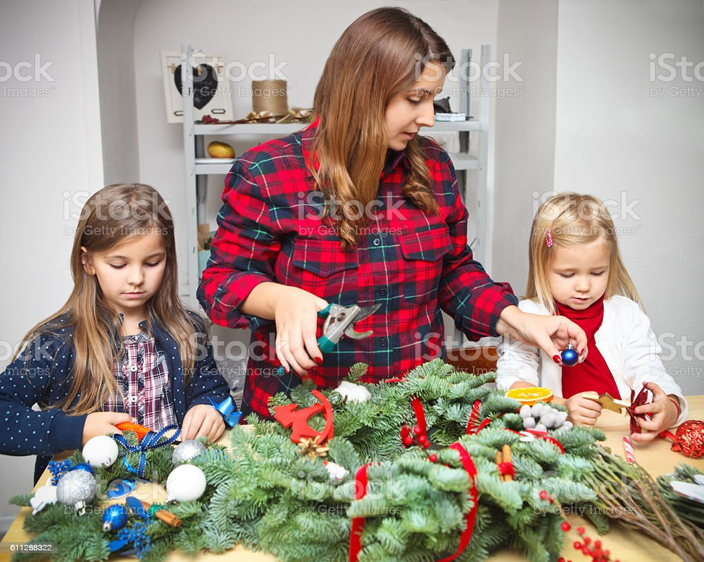 Making an advent wreath with the kids – Foto