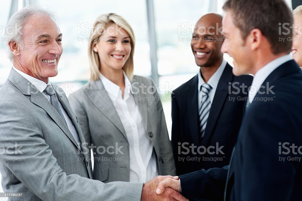 Making an agreement royalty-free stock photo