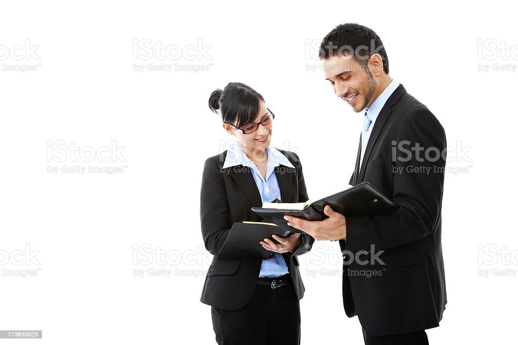 Making an appointment royalty-free stock photo