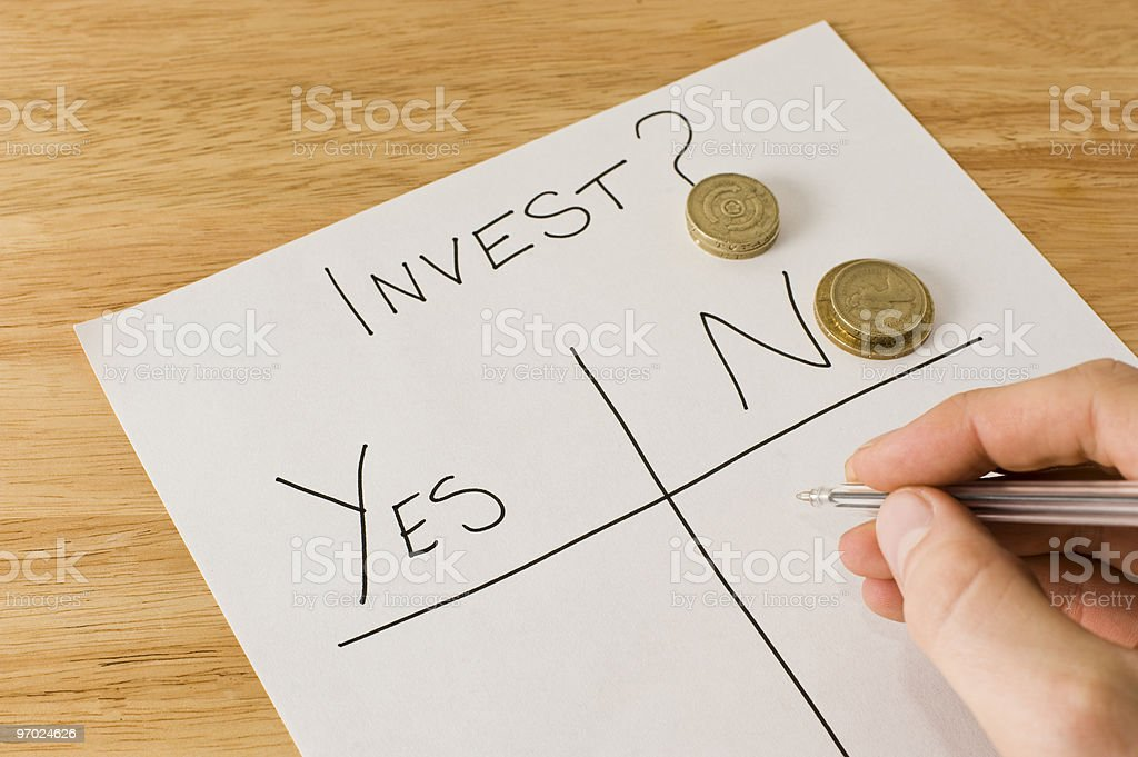 Making An Investment Decision royalty-free stock photo