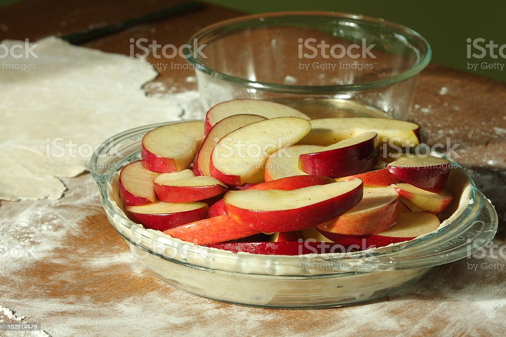 Making Apple Pie royalty-free stock photo