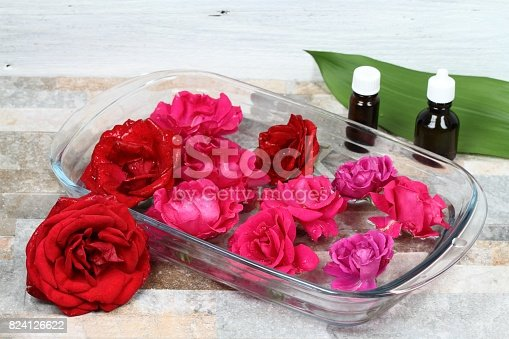 istock Making Bach flower remedy from beautiful roses 824126622