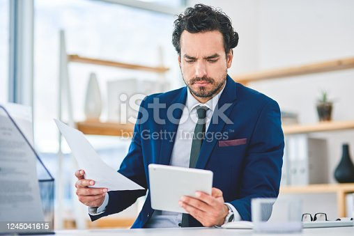 istock Making big plans to propel his business 1245041615