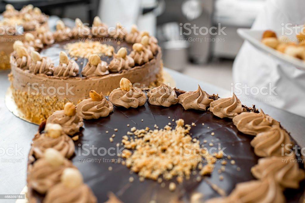 Making biscuit cake royalty-free stock photo