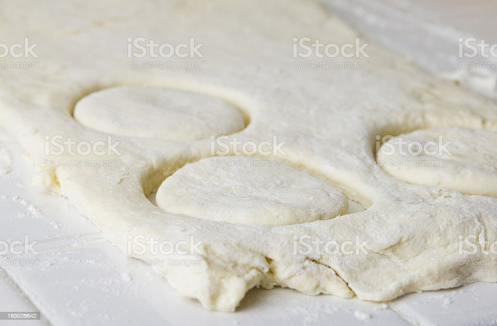 Making Biscuits - Dough royalty-free stock photo