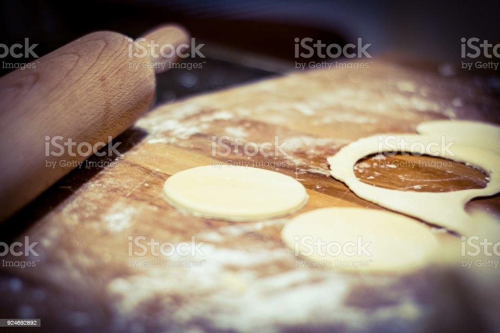 Herstellung der Kekse in Küche - Teig – Foto