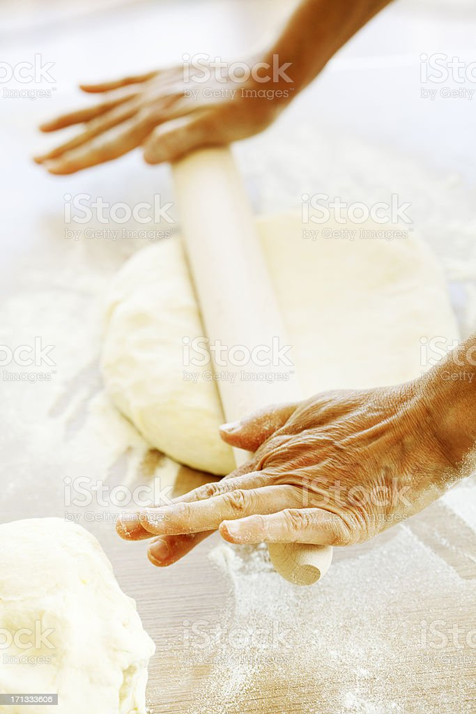 making bread royalty-free stock photo
