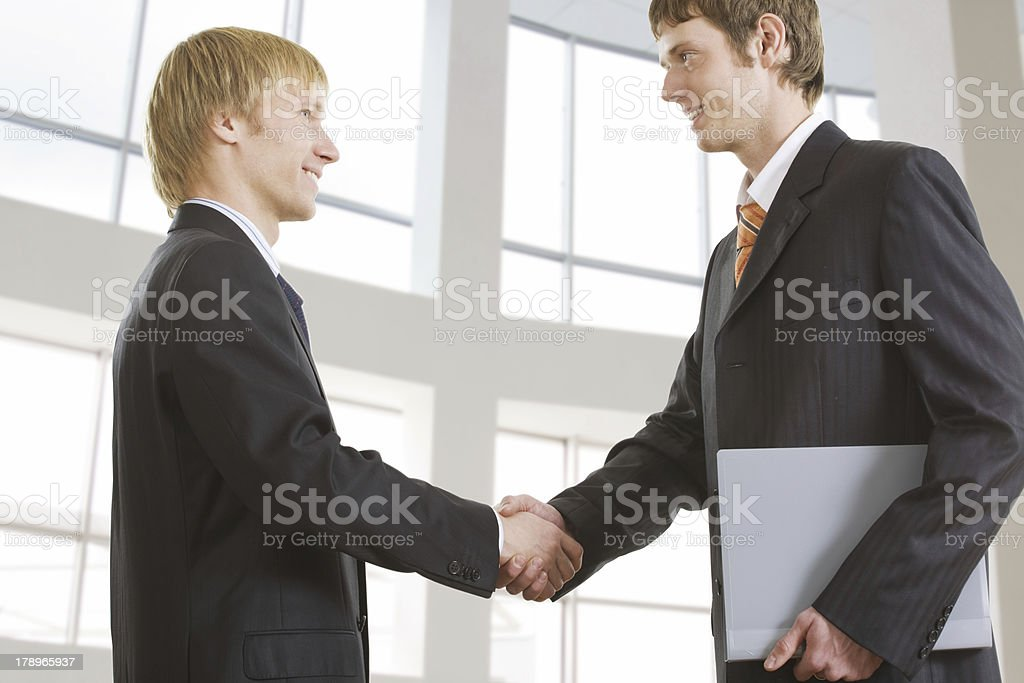 Making business agreement royalty-free stock photo