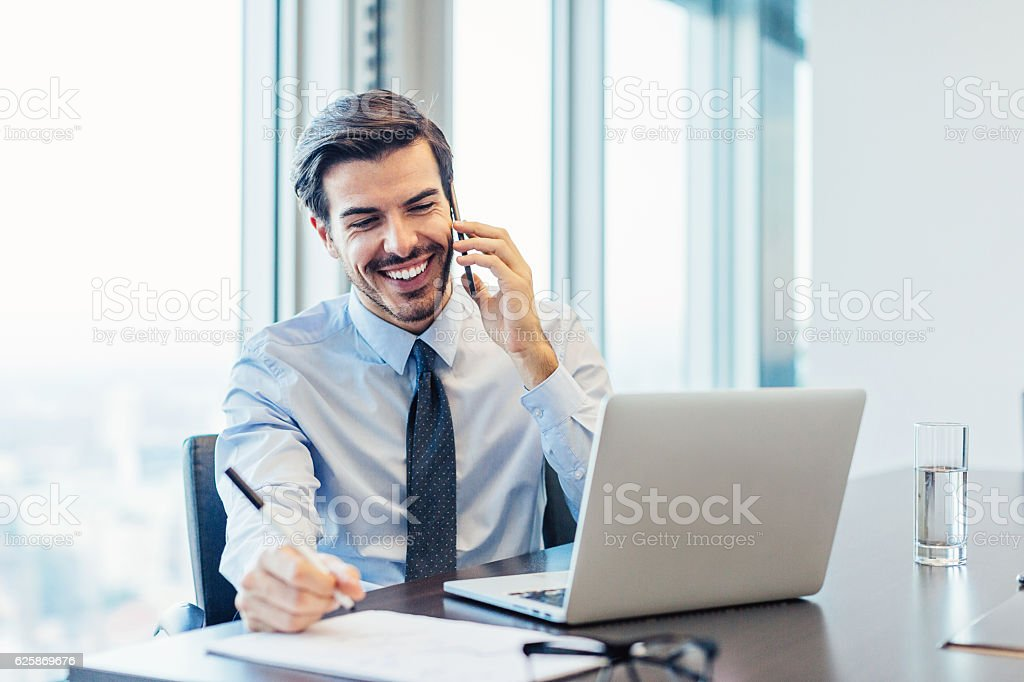 Making business stock photo