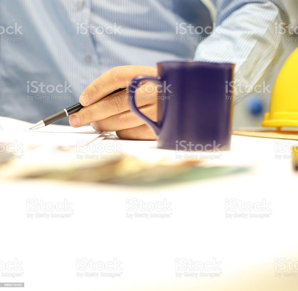 Making business stock photo