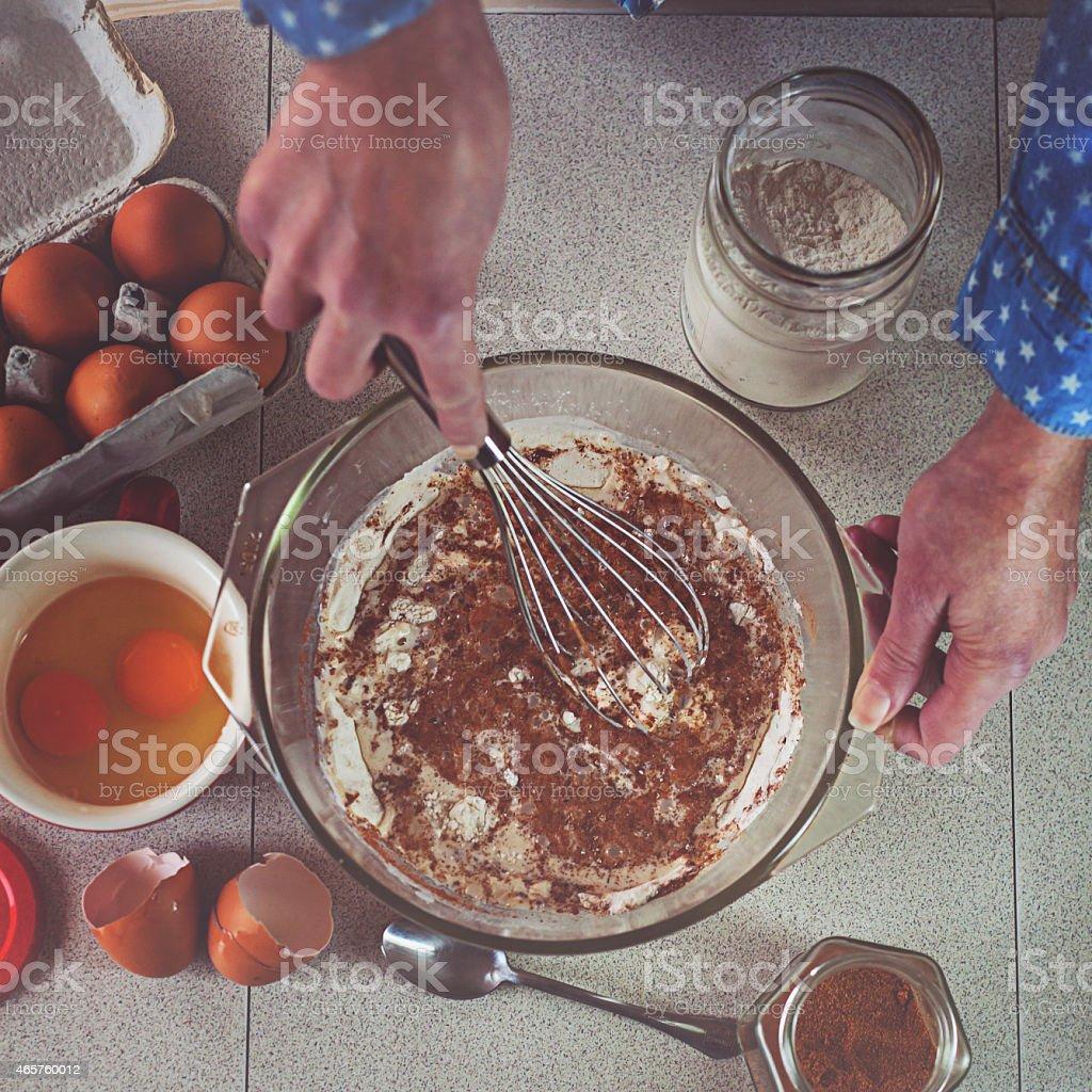 making cake stock photo