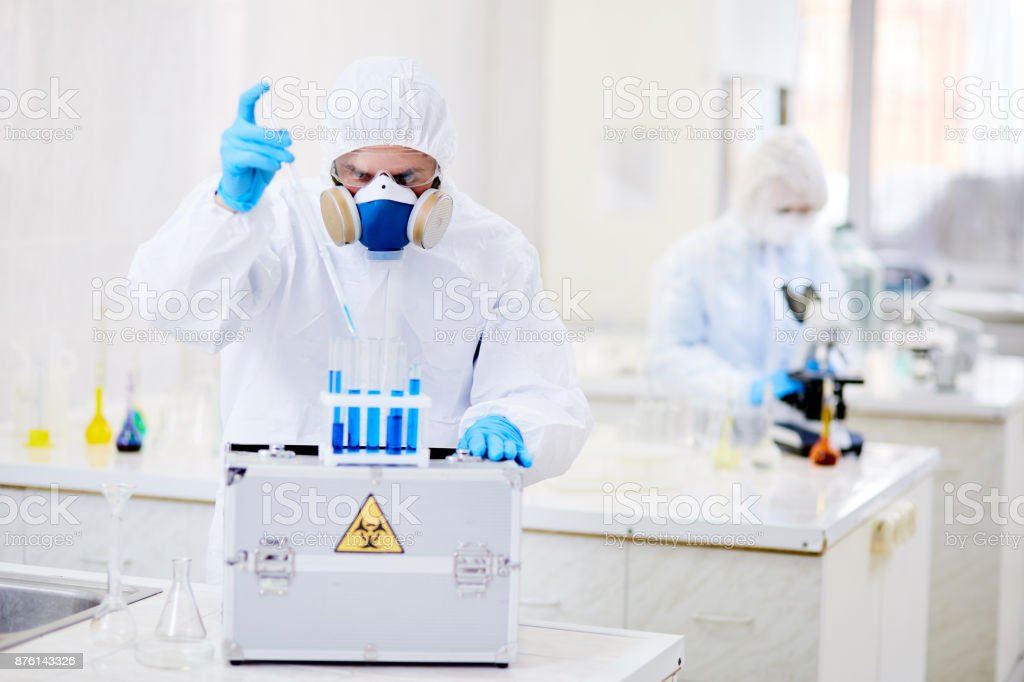 Making chemical compound stock photo