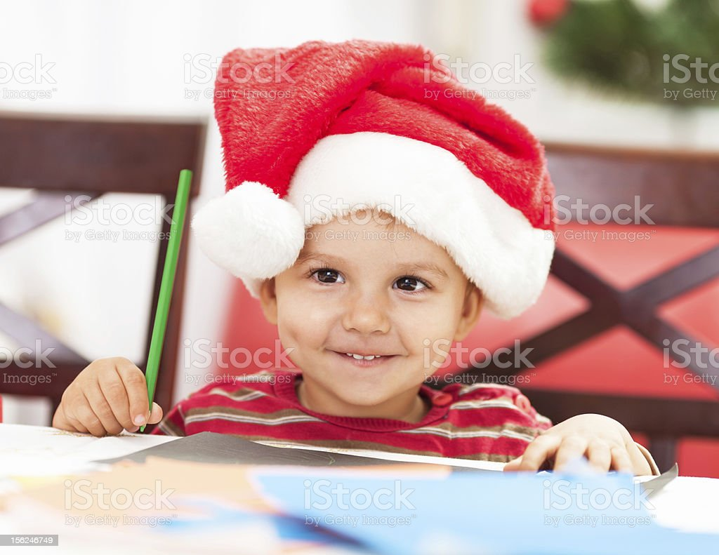 Making Christmas card royalty-free stock photo