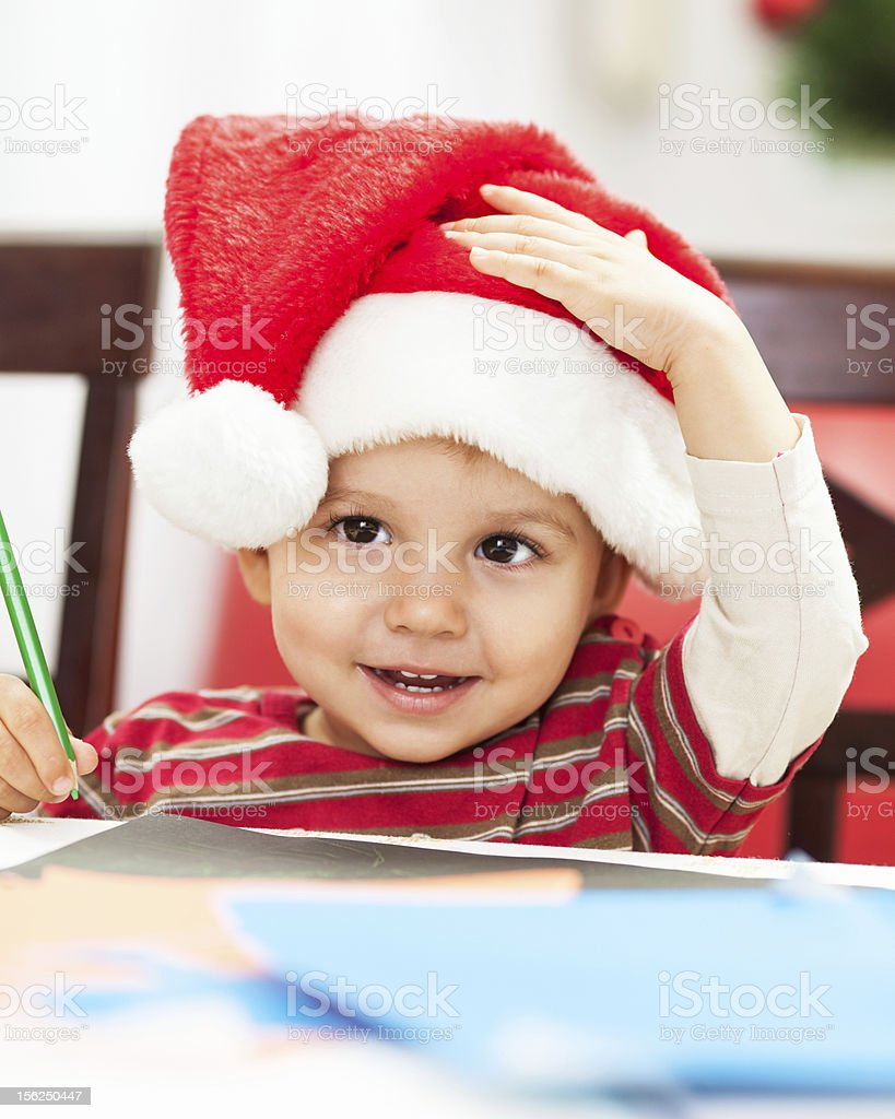 Making Christmas card royalty-free stock photo