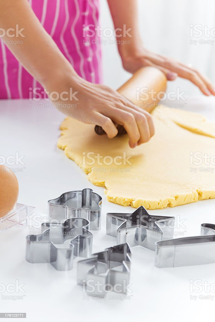 Making Christmas Cookies royalty-free stock photo