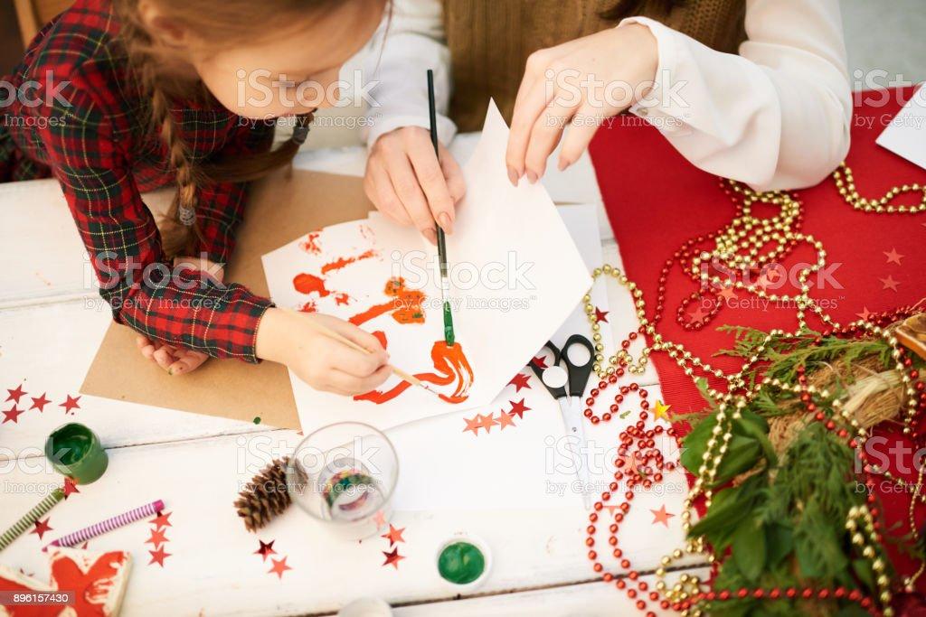 Cadeau De Noel Classe.Photo Libre De Droit De Fait Cadeau De Noël à La Classe De