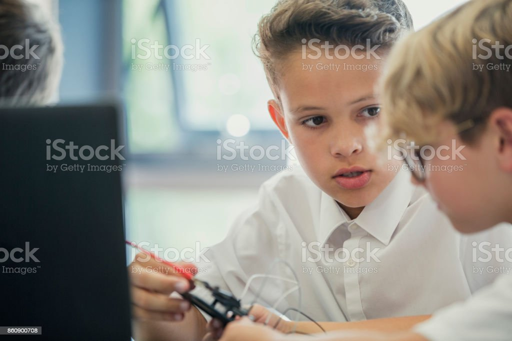 Making Circuits In School stock photo