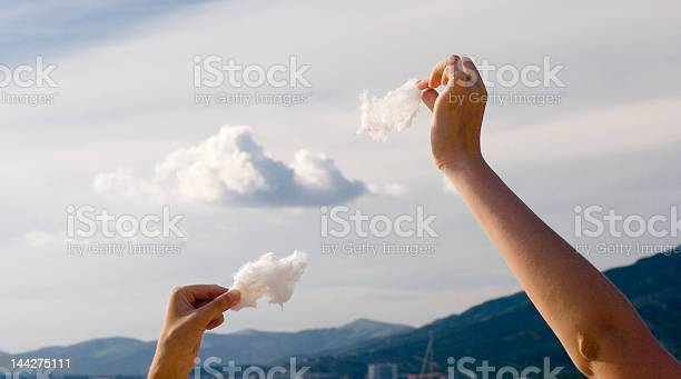 Photo of making clouds from the cotton