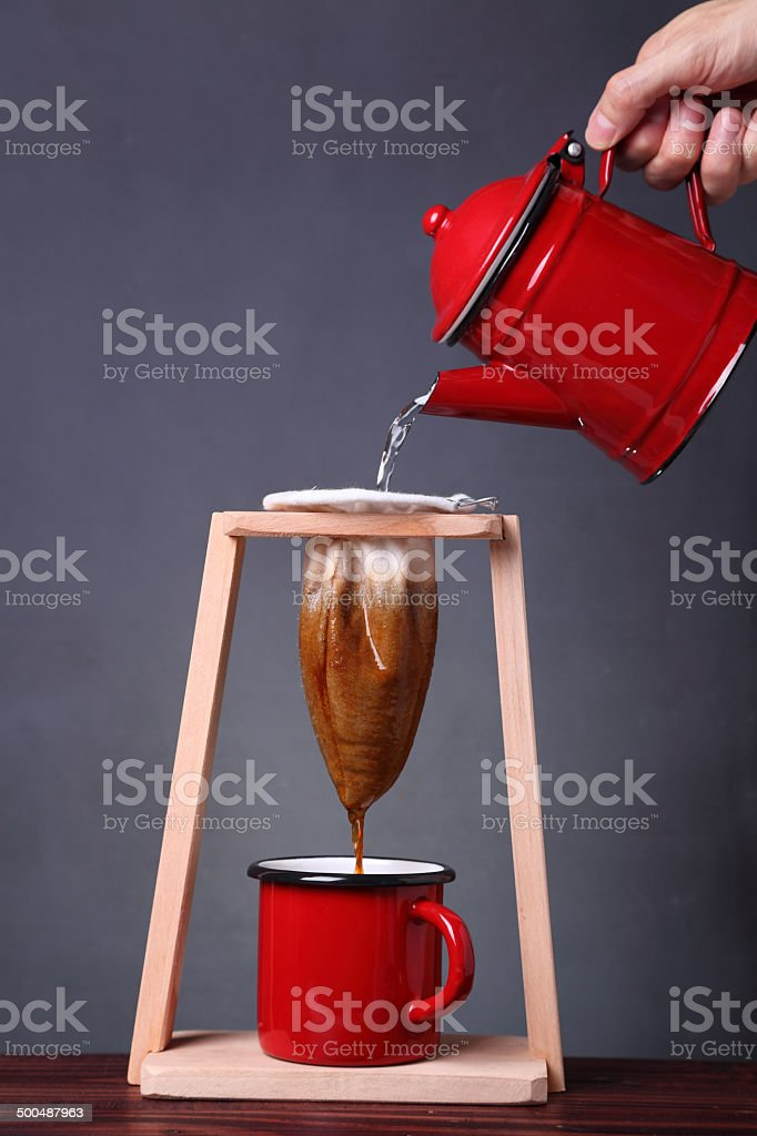 Making Coffee Costa Rican Style royalty-free stock photo