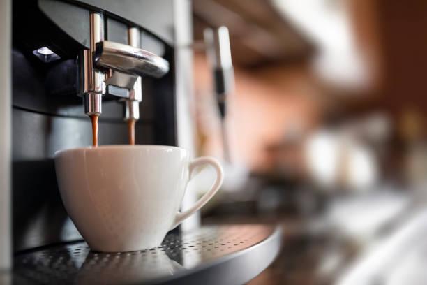 making coffee stock photo