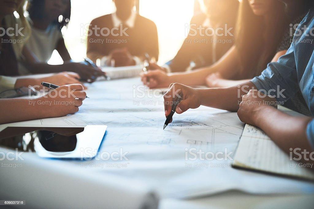 Making collaboration work stock photo