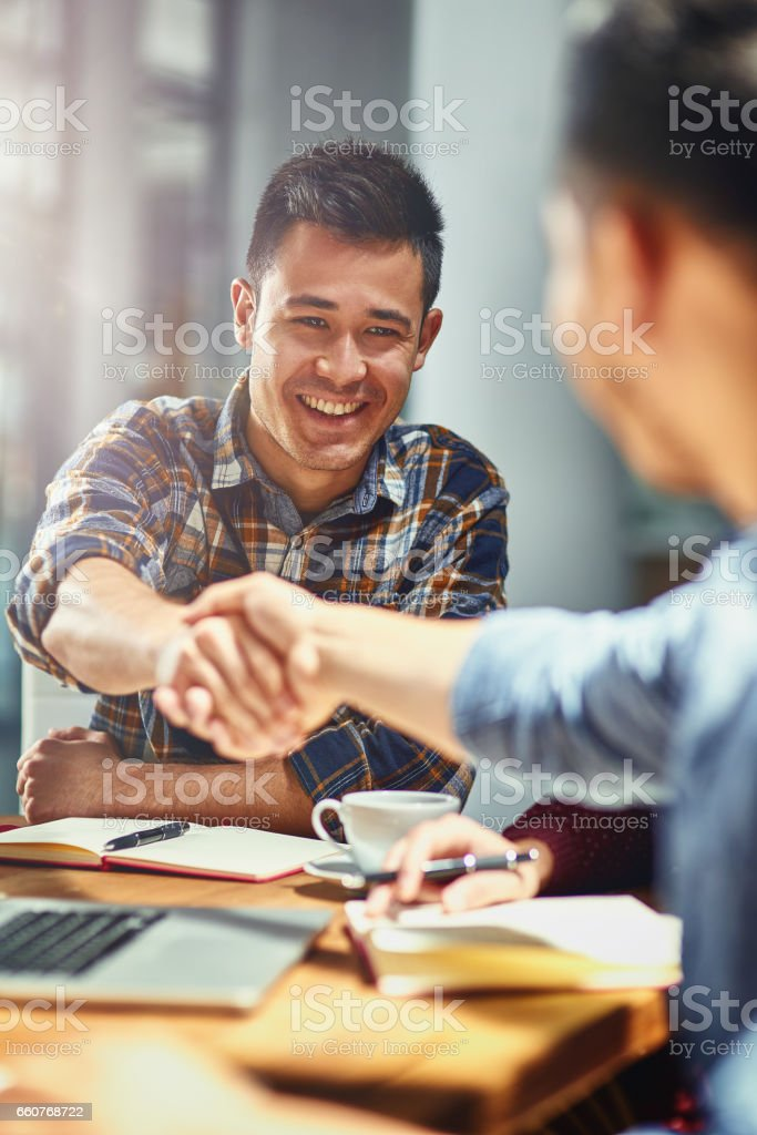 Making connections that count towards his success stock photo