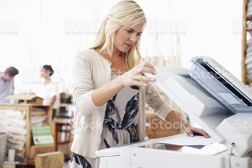 Making copies at the office royalty-free stock photo
