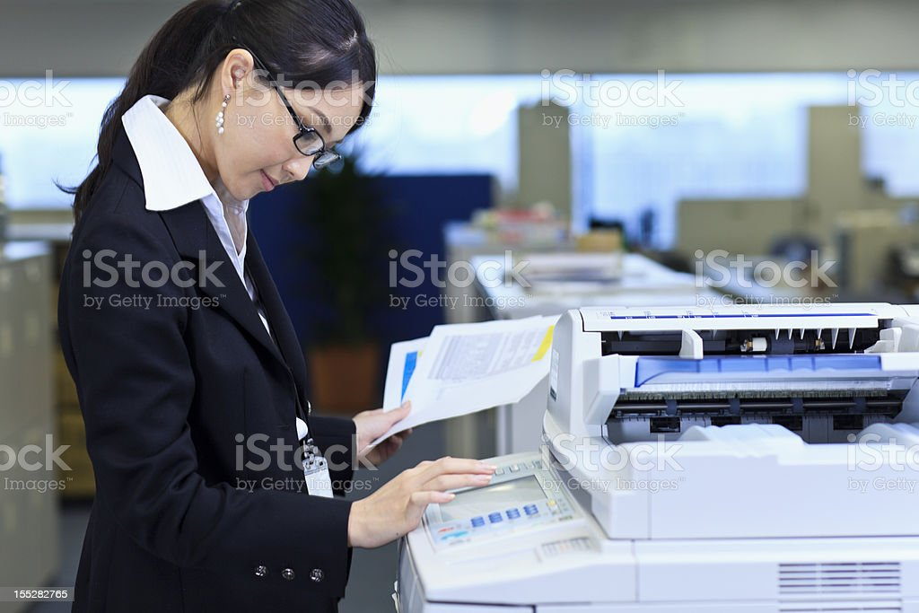 Making copies stock photo