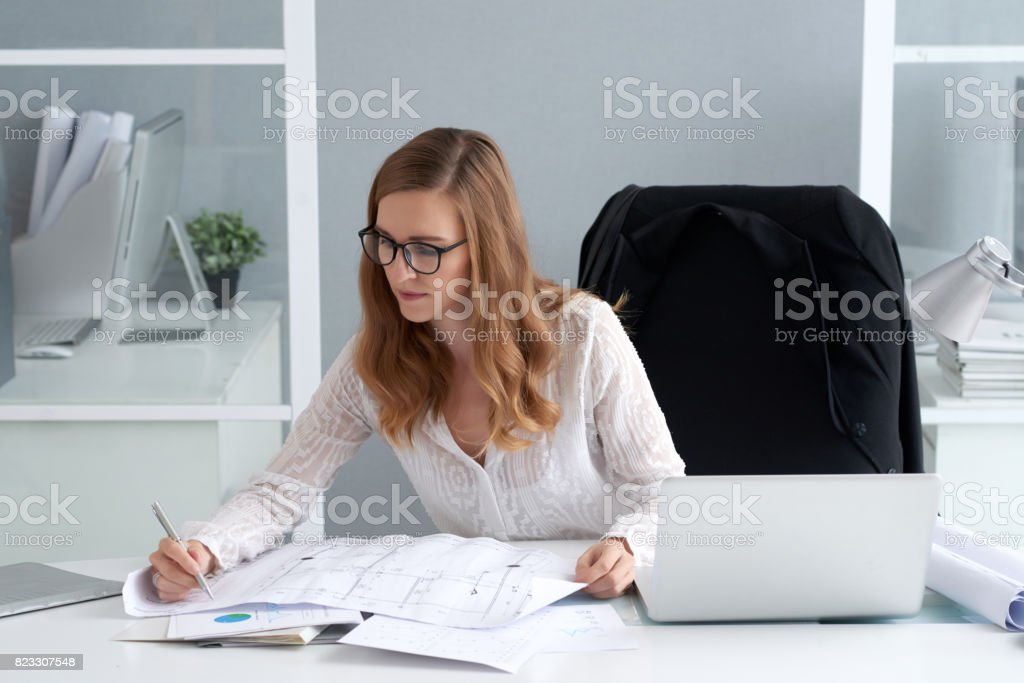 Making corrections stock photo