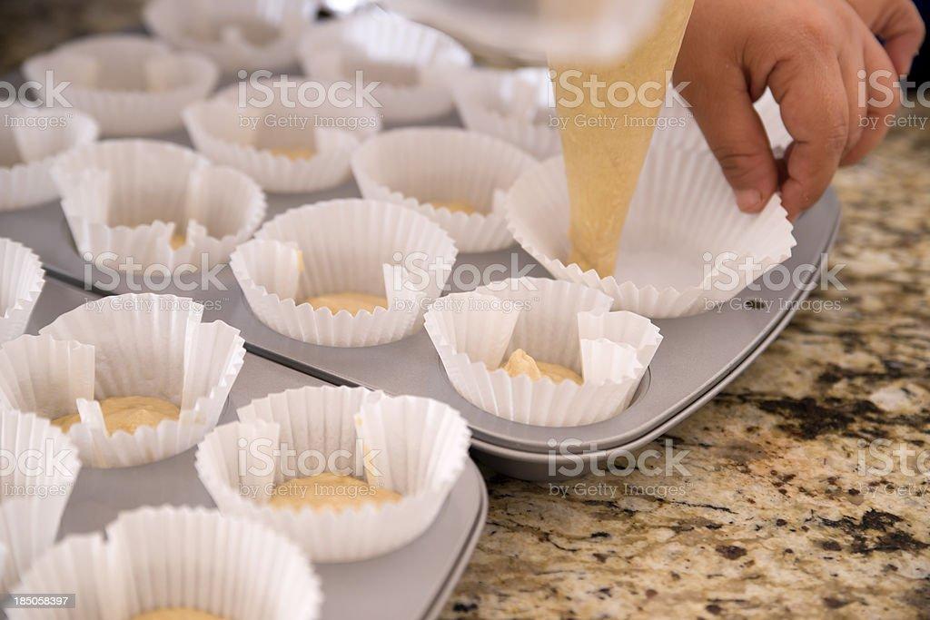 Making Cupcakes stock photo