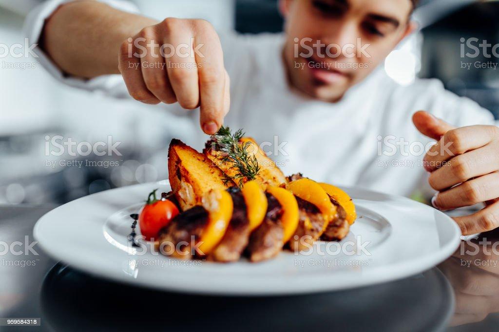 Pour le dîner dans un chef-d'œuvre - Photo