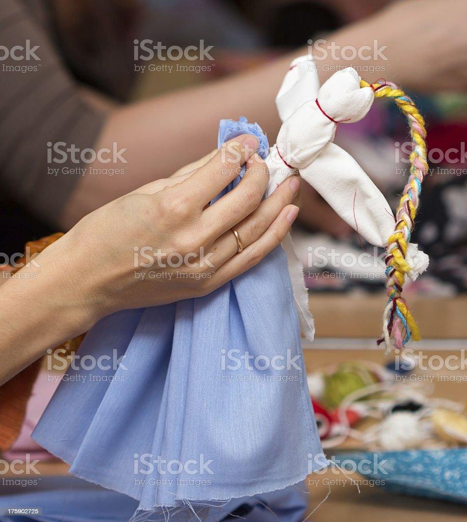 Making doll Vesnyanka royalty-free stock photo