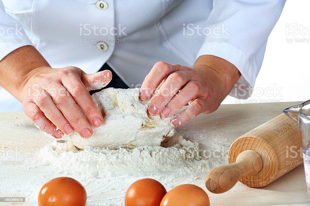 making dough stock photo