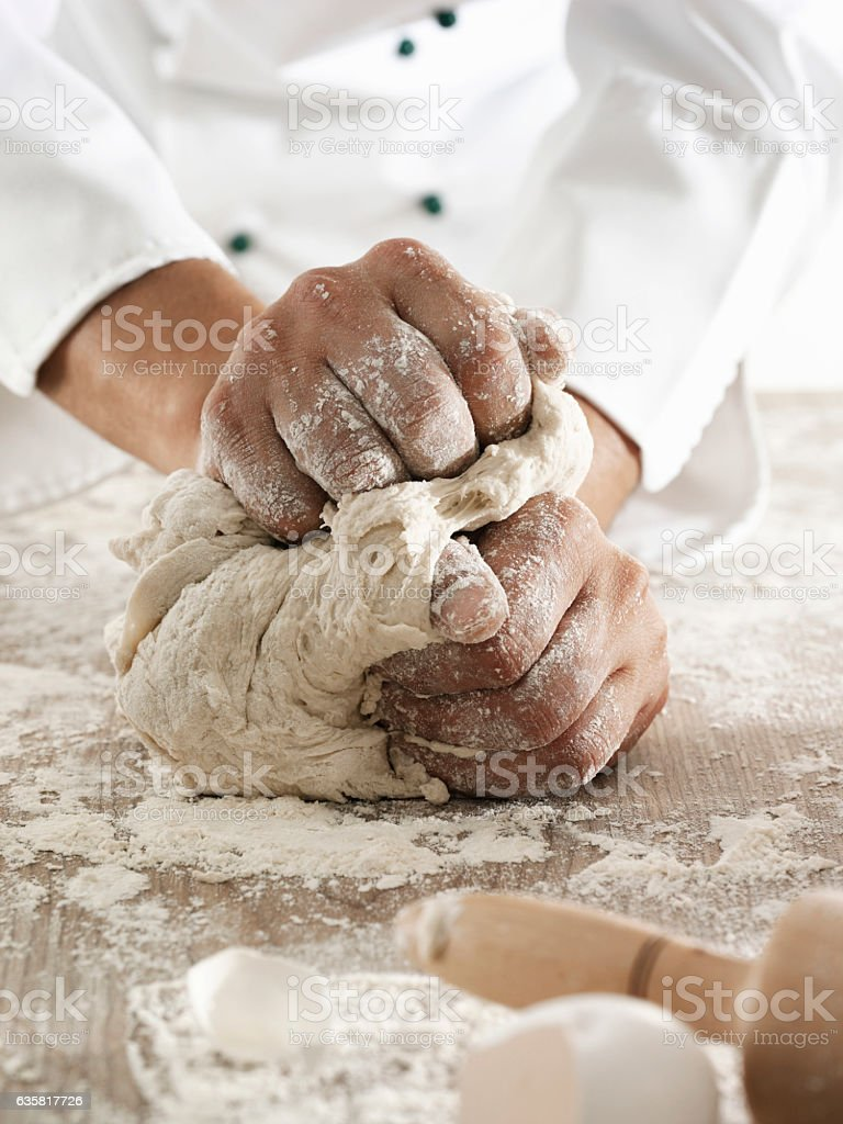 Making dough stock photo