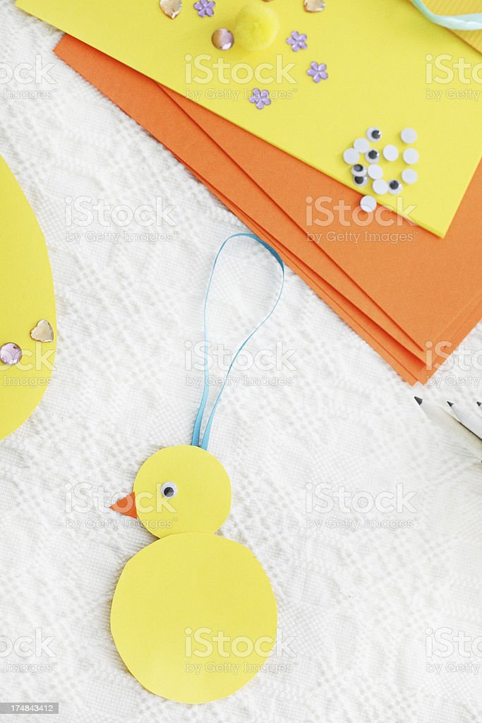 making easter decoration royalty-free stock photo