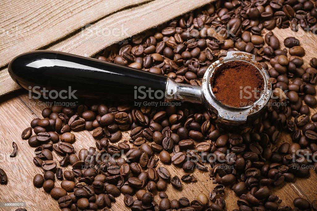 Making espresso stock photo