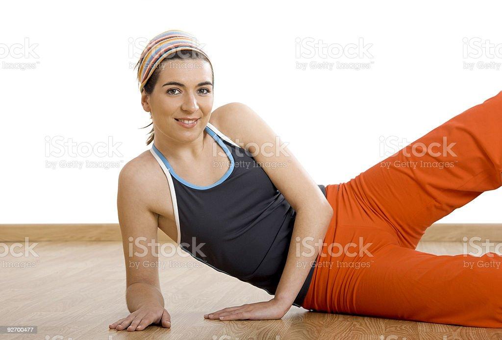 Making exercises royalty-free stock photo