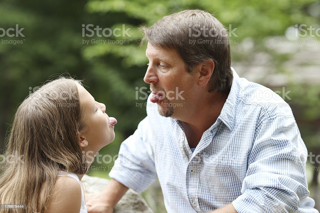 Making Face royalty-free stock photo