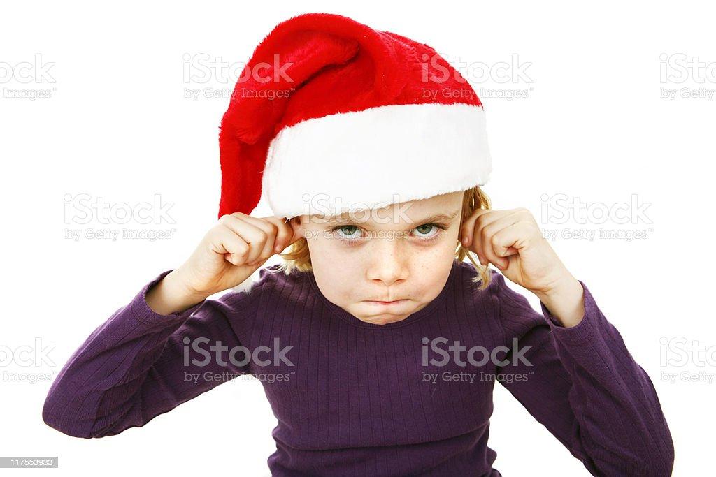 Making faces of Santa royalty-free stock photo