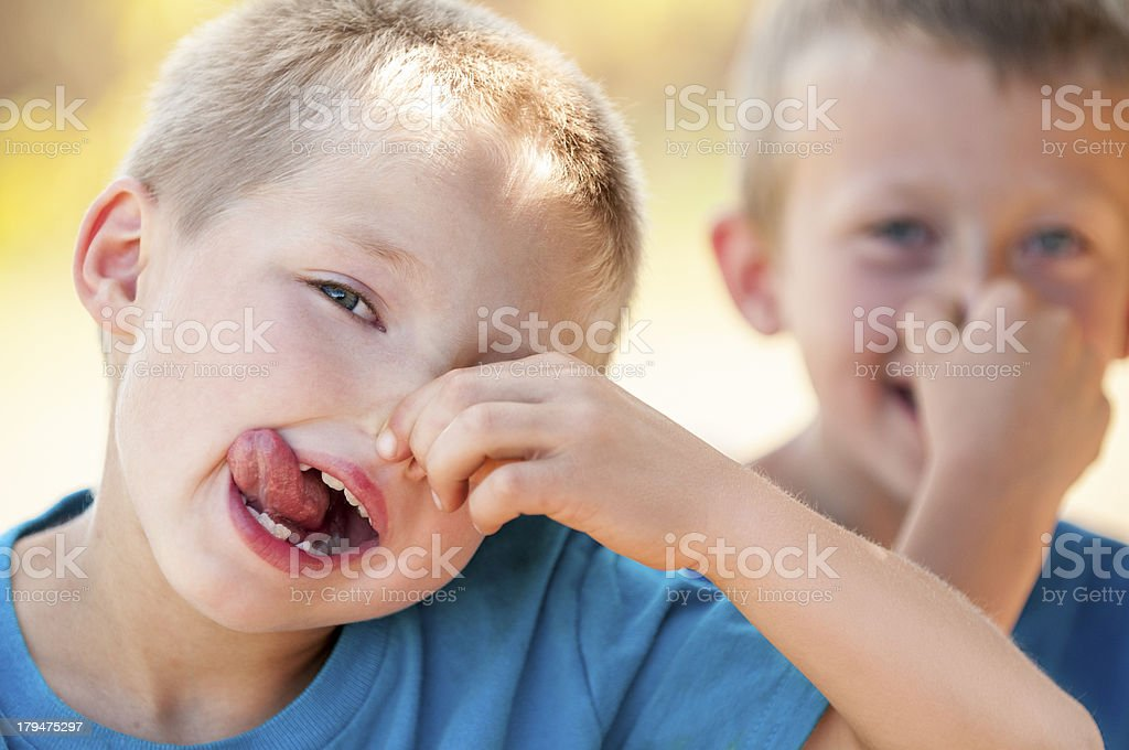 Making Faces royalty-free stock photo