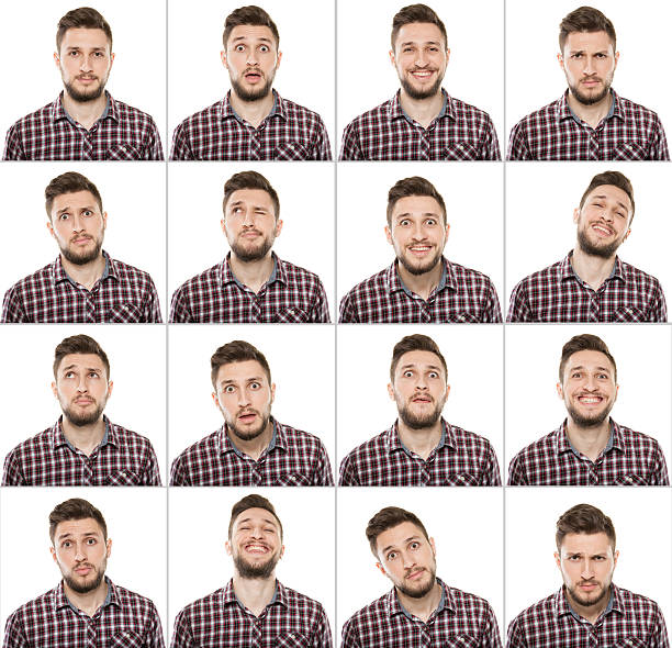 making facial expressions - facial expression stock pictures, royalty-free photos & images