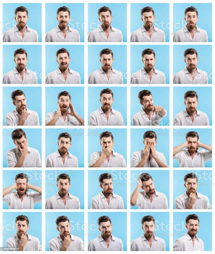 Making Facial Expressions stock photo
