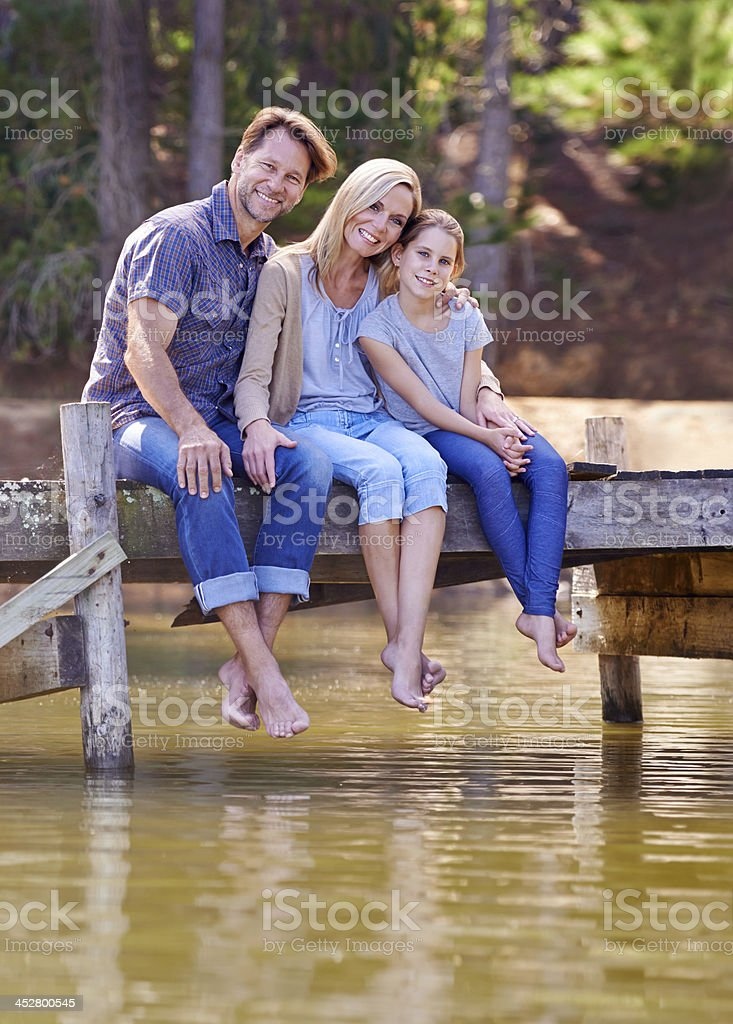 Making family memories stock photo