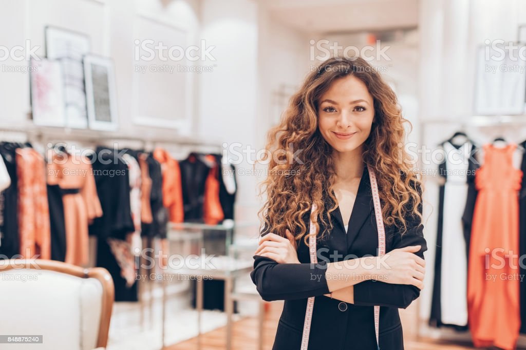 Making fashion stock photo