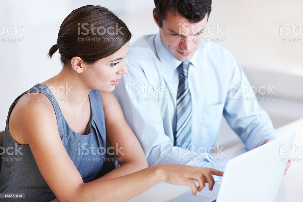 Making final touches to the proposal royalty-free stock photo