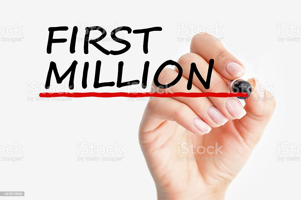 Making first million stock photo