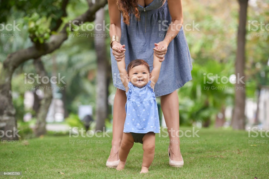 Making first steps stock photo